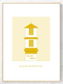 cadre serpette jaune